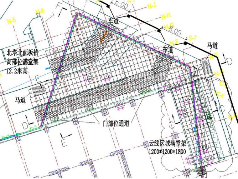 [深圳]超高层塔楼幕墙工程首层满堂脚手架施工方案(59页)