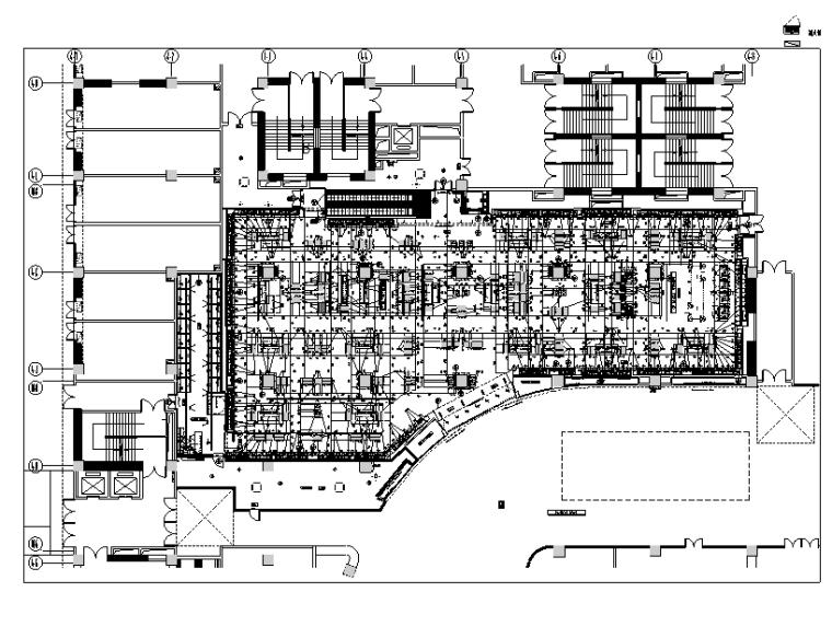 [云南]ZARA爱琴海店装饰设计施工图-一层家具尺寸图