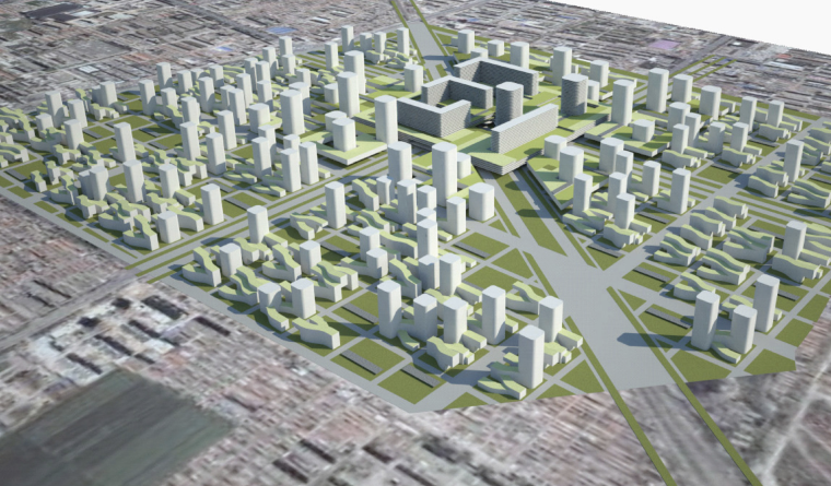 [河北]廊坊生态智能城市建筑规划方案文本