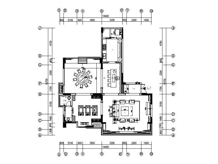 [深圳]国际高档会所设计平面图