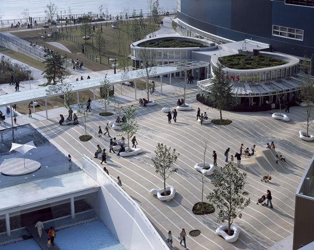 东京丰州LaLaport码头休闲区景观设计_2