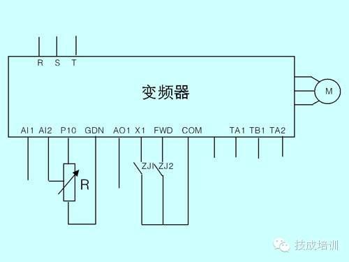 PLC 变频器接线图 供电配电 筑龙电气工程论坛