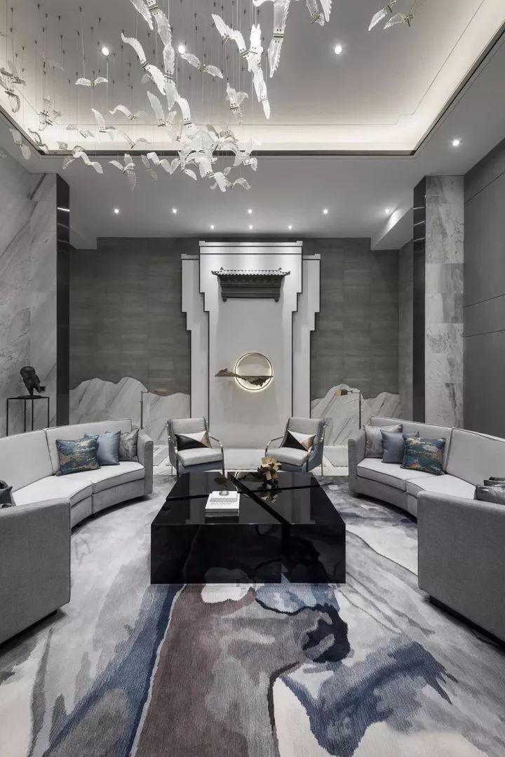 沙发墙,最美不过新中式