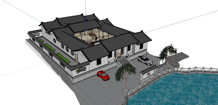 叶家老宅建筑模型(SU模型)-2