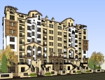 西班牙风格住宅建筑设计SU模型
