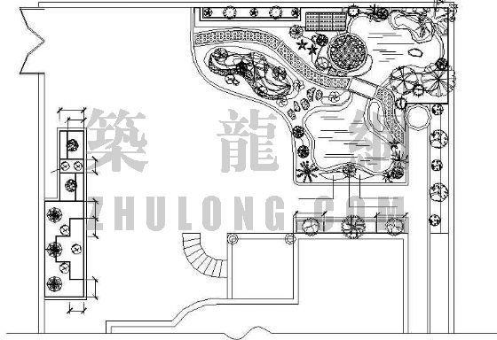 某别墅小花园绿化施工图