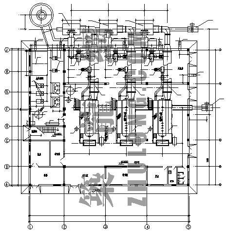30吨的燃煤锅炉房设计全套图