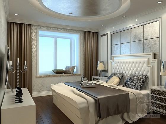 欧式新古典风格卧室3d模型下载