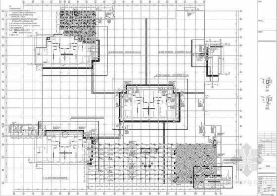 小区地库及各防火分区结构施工图(13年3月)