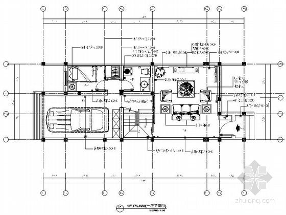 [江苏]沿海城市庄园现代三层别墅装修施工图