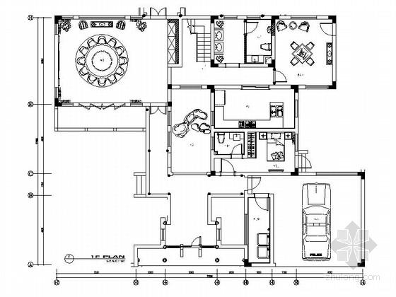 [苏州]现代新古典中式双层别墅装修图(含效果)