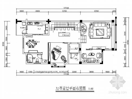 [毕业设计]叠拼欧式双层别墅室内装修图(含方案)