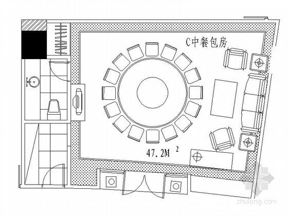 [成都]豪华酒店中餐包间装修施工图