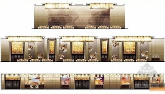 [贵阳]总投资10亿全球豪华五星级酒店设计方案宴会厅立面图