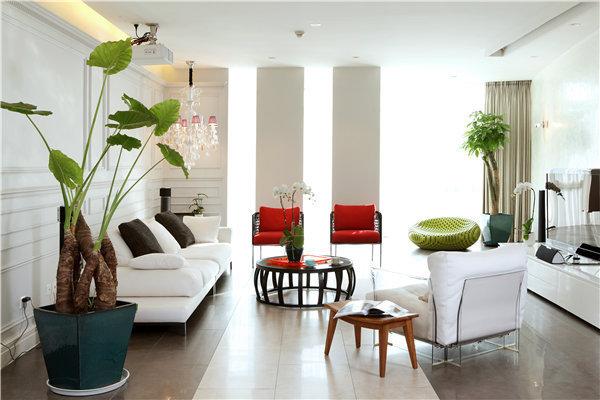 280平现代简约家居装修效果图