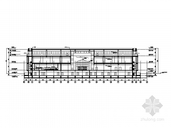 省级博物馆建筑施工图立面图