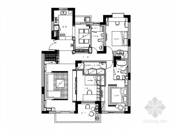 时尚优雅现代三居室装修图(含实景图)