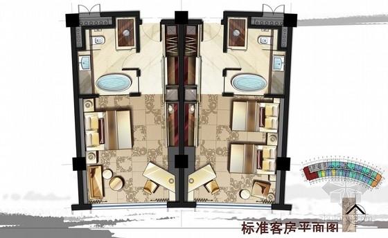 [江苏]工业区假日酒店现代风格标准客房室内装饰设计方案