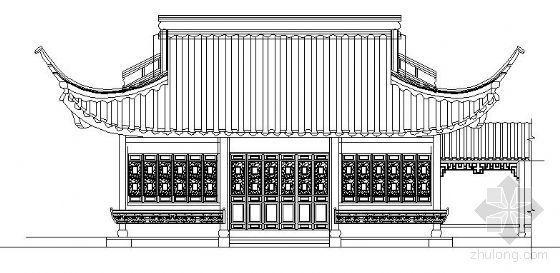 运河上茶室和古典亭施工图