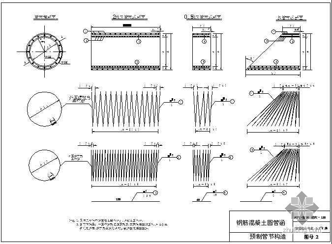 某市政配套工程圆管涵设计图