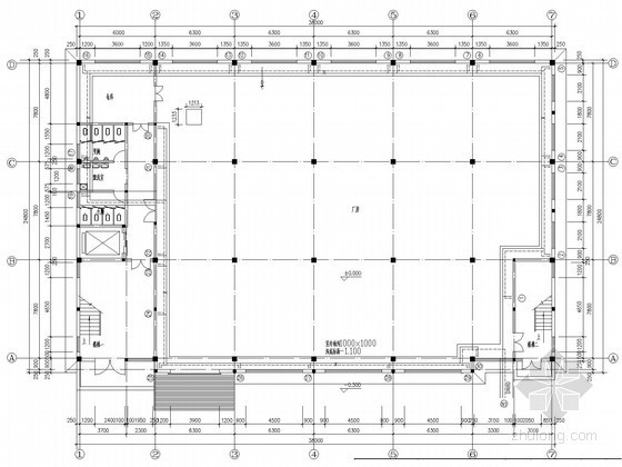 多层高发厂房楼采暖系统设计施工图(含给排水设计)