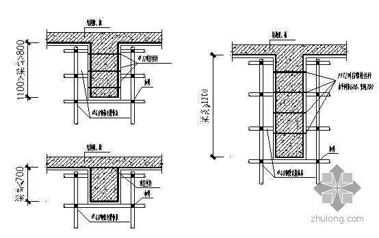 重庆某经济适用房工程模板施工方案(胶合板 附图及计算)