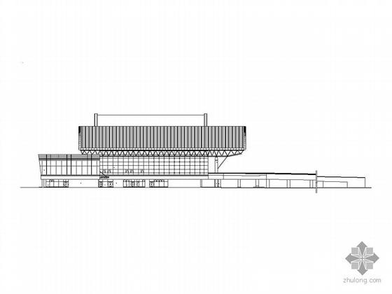 [石家庄]某机场二层候机楼建筑施工图、效果图