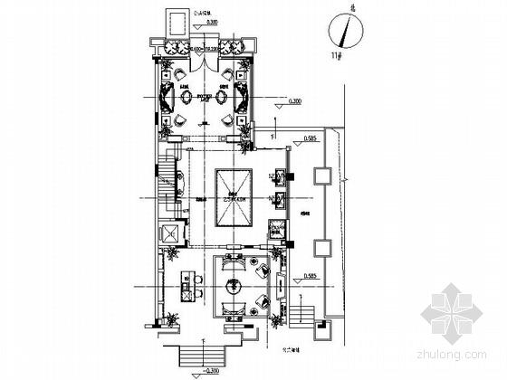 [广西]某豪华美式高档会所室内装修施工图
