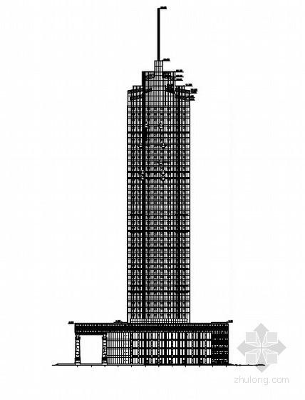 [营口]某世贸中心大酒店幕墙工程施工图