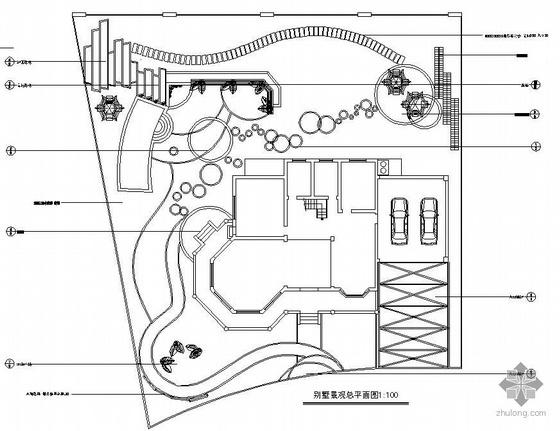 别墅庭院设计总平面及细部详图