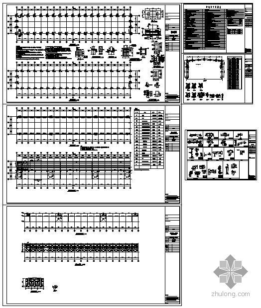 某带吊车单跨门式刚架结构设计图