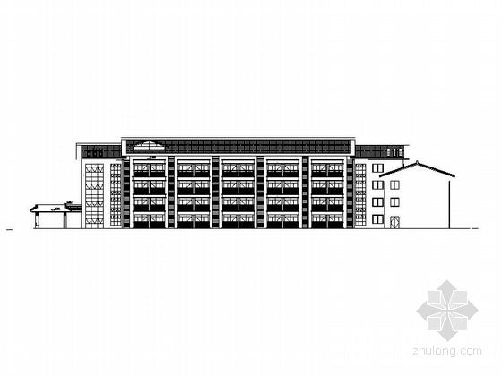 [河北]4层社会福利院中心(老人疗养院)建筑施工图(含养护楼、老年公寓等)
