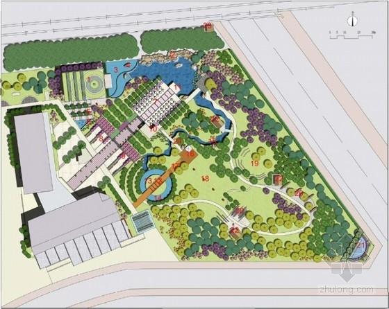 [北京]现代风格酒店绿化广场景观设计方案