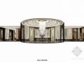 [四川]某奢华售楼中心及双拼别墅室内设计方案图