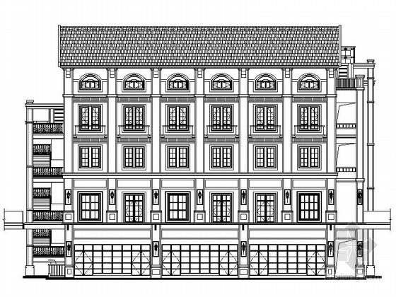 [重庆]某商业广场四层欧式商业建筑施工图(6号楼)