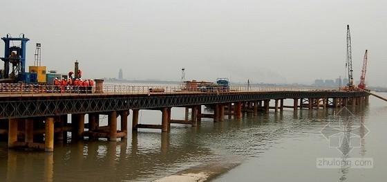 6米宽钢栈桥下部结构施工方案