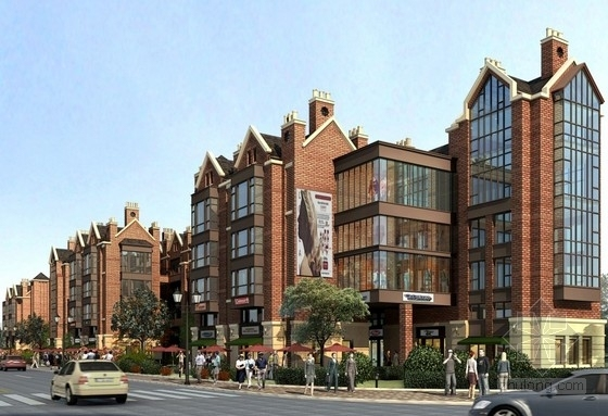[上海]某欧式风格小区规划及单体设计方案文本