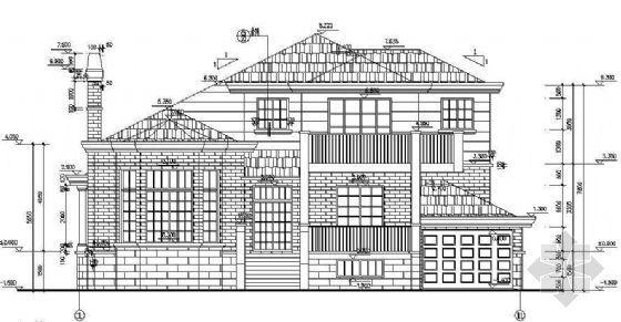 某别墅建筑结构施工图全套(附其效果图)