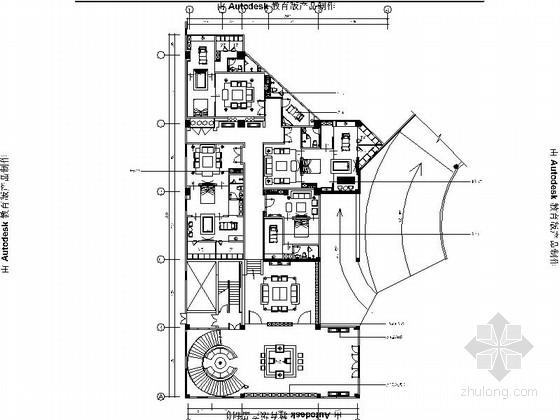 [福州]泰式会所SPA设计装饰CAD施工图(含效果图)