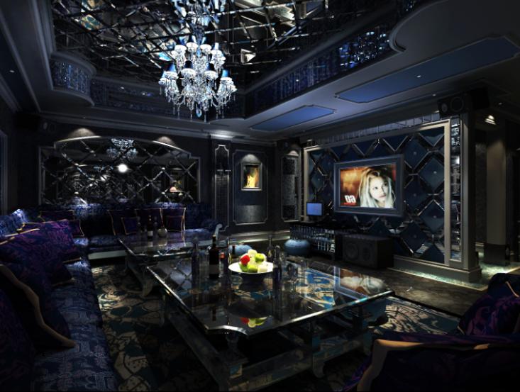 室内豪华欧陆风格夜总会装修设计施工图(含效果图)