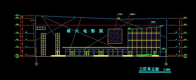 高层圆形平面造型广场建筑施工图