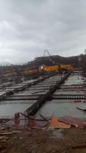 重大事故|3月20日马鞍山在建工地三台塔吊同时倒塌