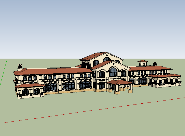 西班牙-海南亚泰温泉酒店(会所)模型设计-场景二