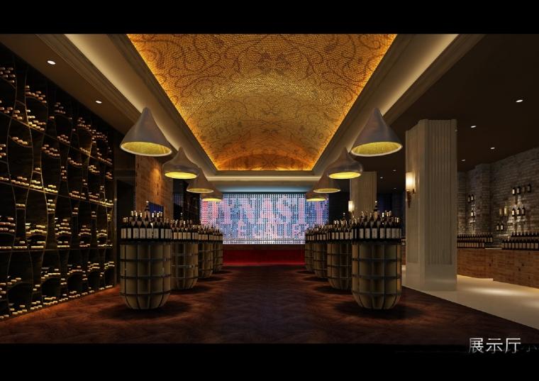 高档典雅红酒展示厅设计方案图-设计图 (5).jpg