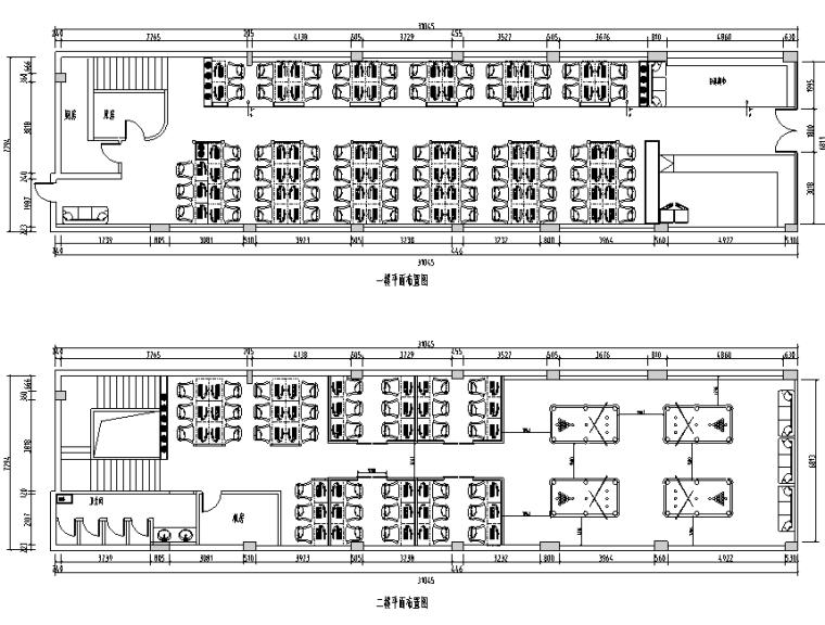 英伦风网吧网咖室内空间设计施工图(附效果图)