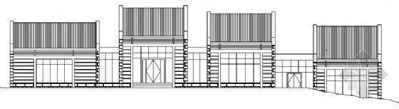 某单层茶室建筑方案图