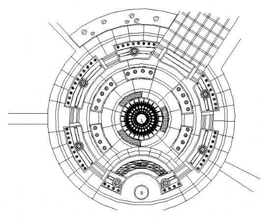 中心广场铺装平面图