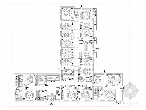 [黑龙江]中式新古典风格品牌火锅店室内设计方案
