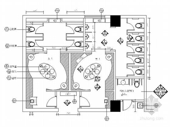 [成都]五星级酒店洗手间装修施工图