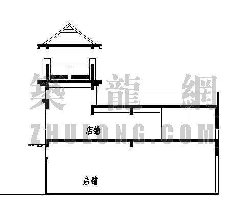 商业步行街建筑施工图-2